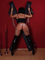 In Fishnet Stockings And Boots on St. Andrews cross